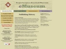 Publishing History Lesson Plan