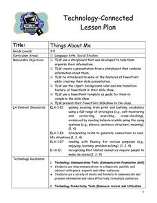 Things About Me Lesson Plan