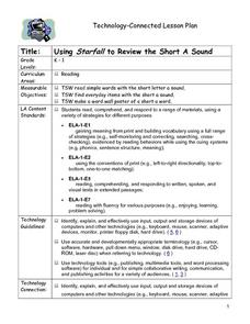 Using Starfall to Review the Short A Sound Lesson Plan
