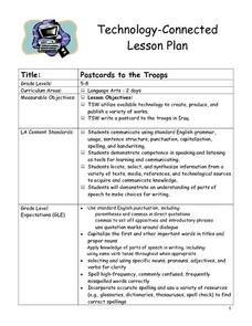 Postcards to the Troops Lesson Plan