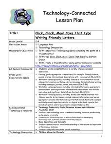 Cows That Type Friendly Letters Lesson Plan