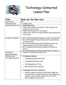 Goals for the New Year Lesson Plan