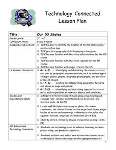 Our 50 States Lesson Plan
