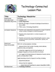 Technology Newsletter Lesson Plan