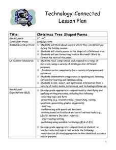 Christmas Tree Shaped Poems Lesson Plan