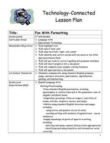 Fun With Formatting Lesson Plan
