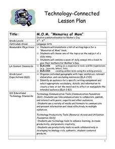 "M.O.M. ""Memories of Mom"" Lesson Plan"