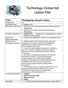Thanksgiving Acrostic Poems Lesson Plan for 2nd - 4th ...