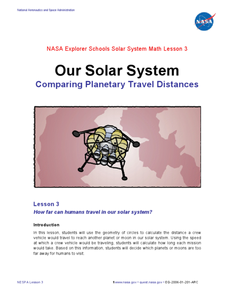 Our Solar System - Comparing Planetary Travel Distances Lesson Plan