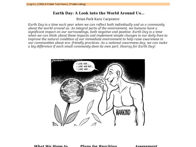 Earth Day: A Look into the World Around Us... Lesson Plan