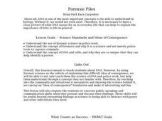 Forensic Files Lesson Plan