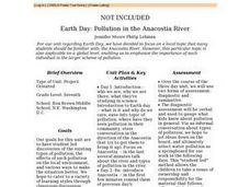 Pollution in the Anacostia River Lesson Plan