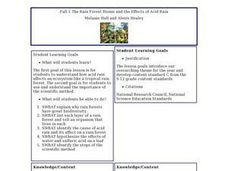 Fall 1-The Rain Forest Biome and the Effects of Acid Rain - Biology Teaching Thesis Lesson Plan