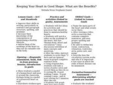 Keeping Your Heart in Good Shape: What are the Benefits? - Biology Teaching Thesis Lesson Plan