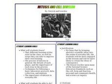 Mitosis and Cell Division Lesson Plan