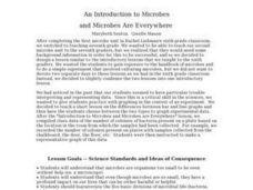 An Introduction to Microbes and Microbes Are Everywhere Lesson Plan