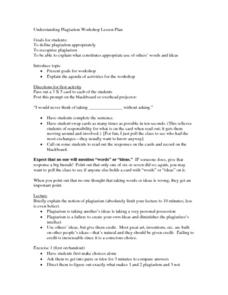 Understanding Plagiarism Workshop Lesson Plan Lesson Plan