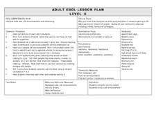 ESOL Competencies Lesson Plan