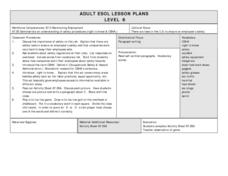 Job Safety Vocabulary Review Lesson Plan