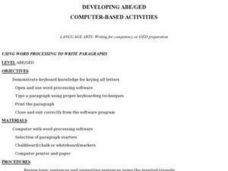 Computer Based Activities Lesson Plan
