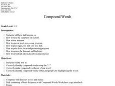 Recognizing Compound Words Lesson Plan