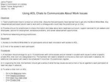 Using AOL Chats to Communicate About Work Issues Lesson Plan