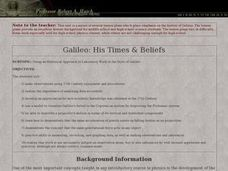 Galileo: His Times & Beliefs Lesson Plan