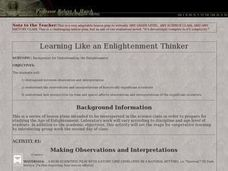 Thoughts Of An Enlightenment Thinker Lesson Plan