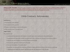 20th-Century Astronomy Lesson Plan