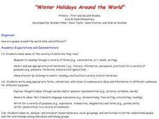 Winter Holidays Around the World Lesson Plan