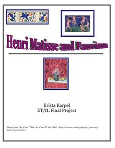 Henri Matisse and Fauvism Lesson Plan