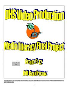 Media Literacy Final Project Lesson Plan
