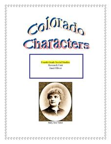 Colorado Characters Lesson Plan