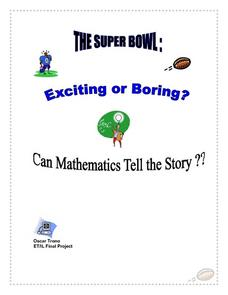 The Superbowl Exciting Or Boring Lesson Plan