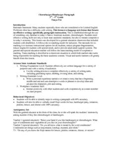 Five Paragraph Essay Lesson Plan for 8th Grade