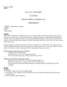Volleyball Skills 4th - 6th Grade Lesson Plan   Lesson Planet