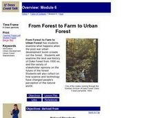 From Forest to Farm to Urban Forest Lesson Plan