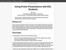 Using Poster Presentations with ESL Students Lesson Plan