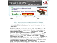 Black History Month Worksheet