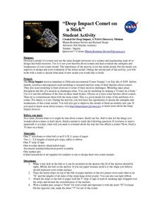 Deep Impact Comet On A Stick Lesson Plan