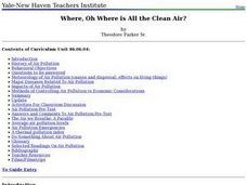 Where, Oh Where is All the Clean Air? Lesson Plan