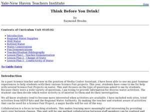 Think Before You Drink! Lesson Plan
