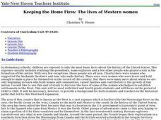 Keeping the Home Fires: The lives of Western women Lesson Plan
