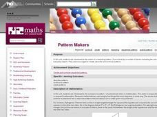 Pattern Makers Lesson Plan
