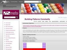 Building Patterns Constantly Lesson Plan