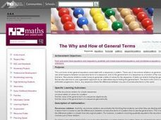 The Why and How of General Terms Lesson Plan