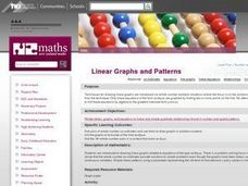 Linear Graphs and Patterns Lesson Plan