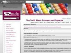 The Truth About Triangles and Squares Lesson Plan