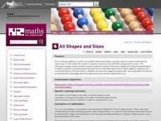 All Shapes and Sizes Lesson Plan
