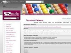 Tukutuku Patterns Lesson Plan